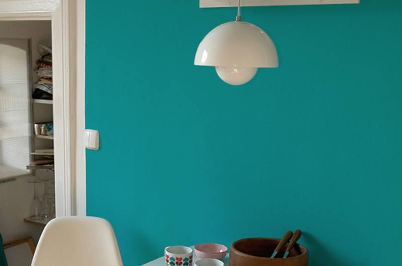 customer white flowerpot lamp | byBespoek