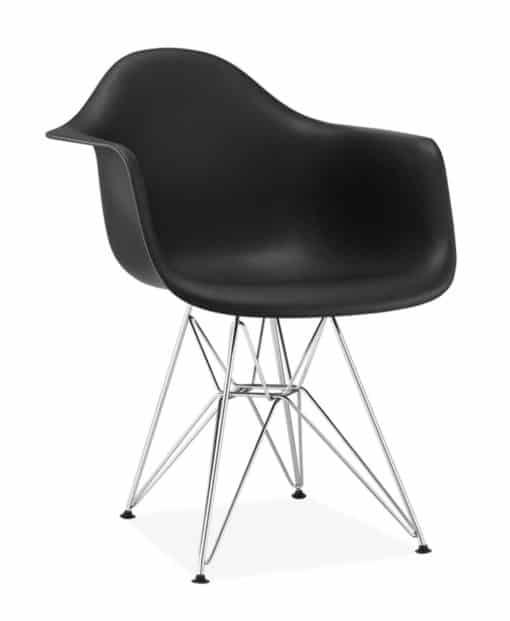 DAR chair plastic black side view - byBESPOEK