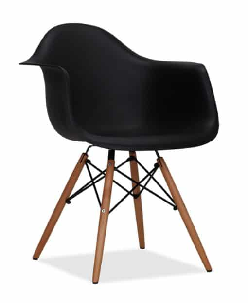 DAW chair plastic black side view - byBESPOEK
