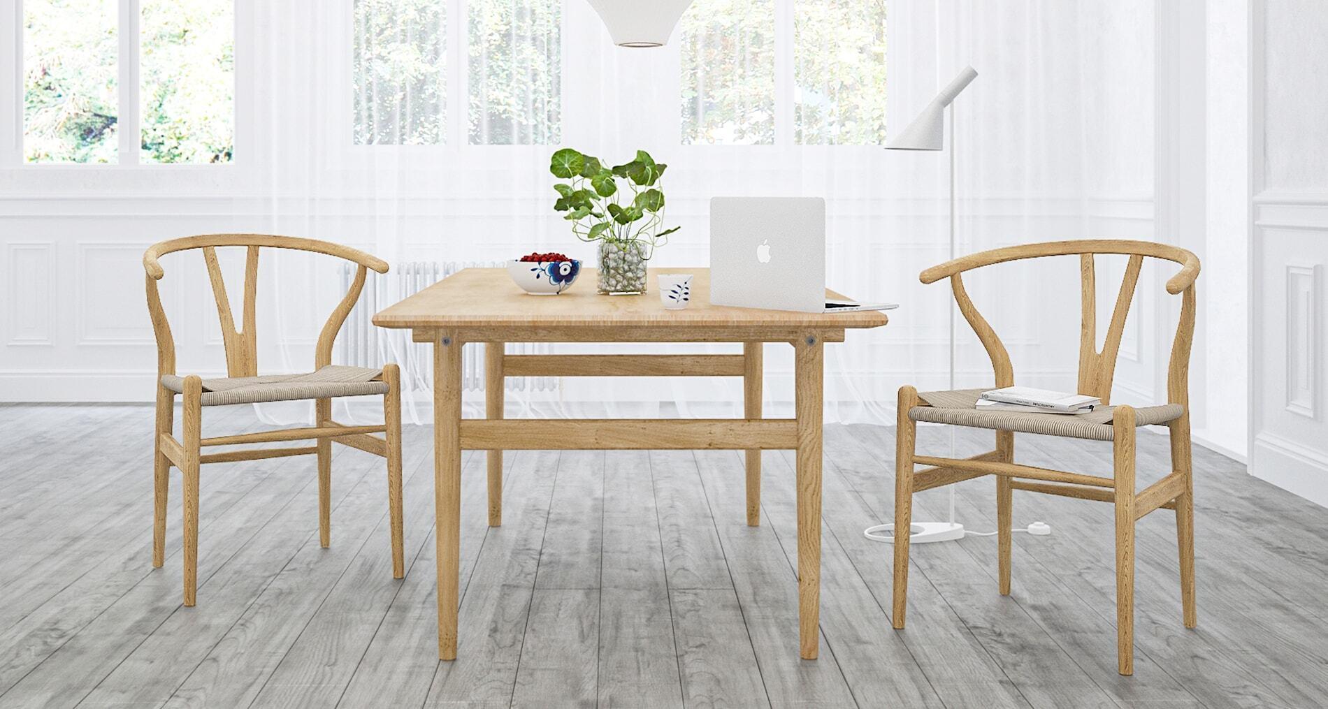 great wishbone chair in interior design