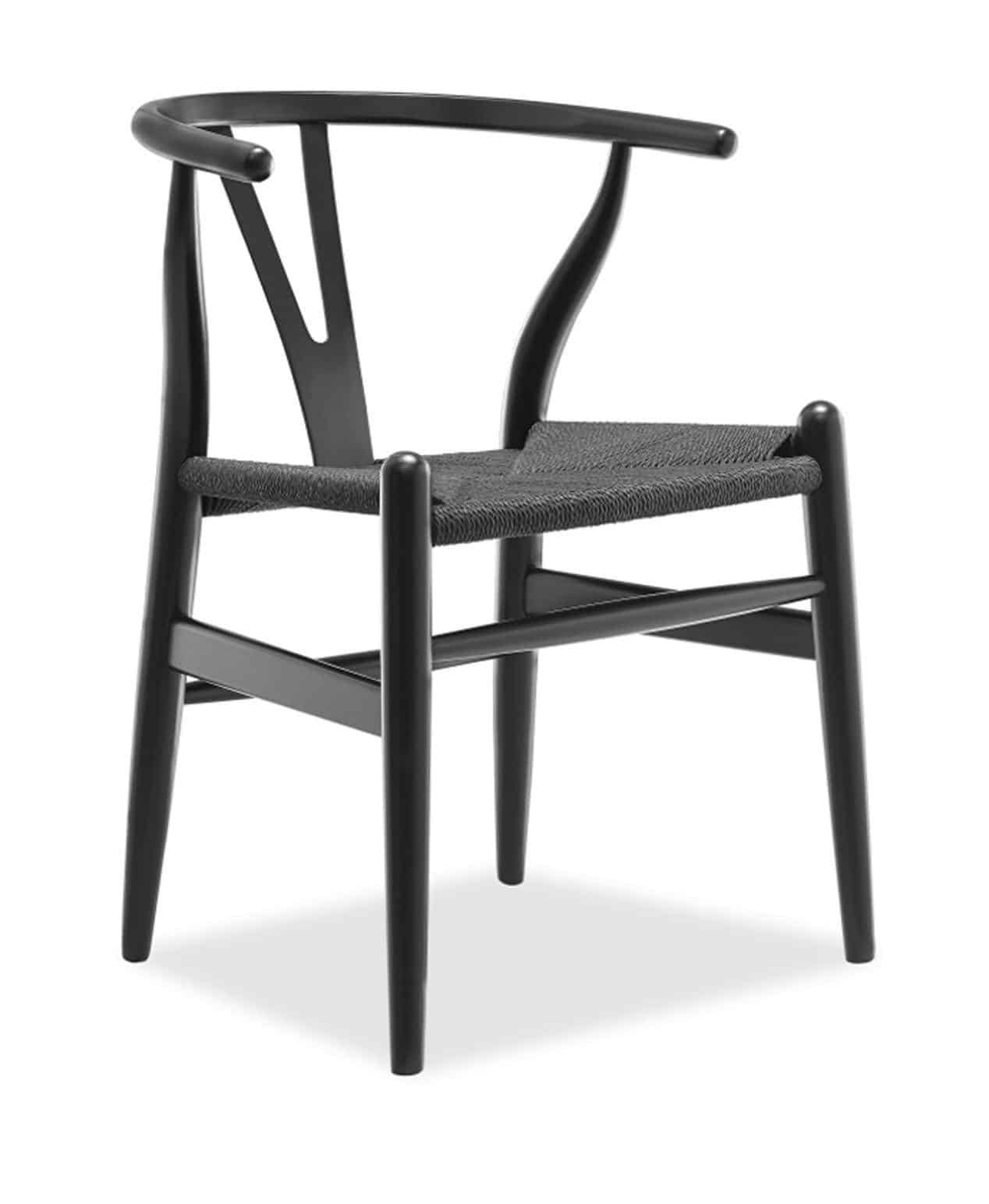 Wishbone Chair U2013 Black With Black Seat