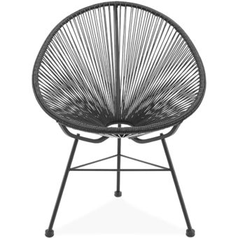 acapulco chair black front | byBespoek