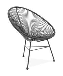 acapulco chair black side view - byBESPOEK