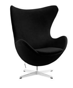 Arne Jacobsen egg chair cashmere black side view - byBESPOEK