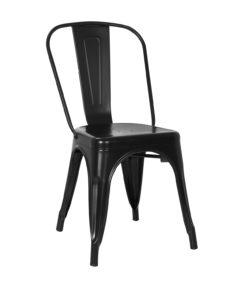 tolix chair black side view - byBESPOEK