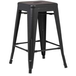 tolix stool black side | byBespoek