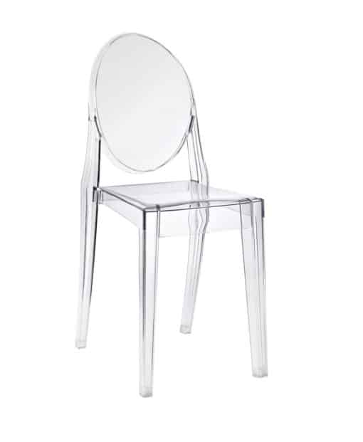 victoria ghost chair clear side view - byBESPOEK