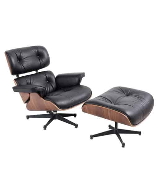 eames lounge chair stool black walnut side - byBESPOEK