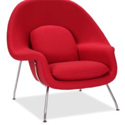 womb chair cashmere ruby side | byBespoek