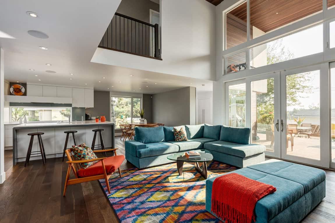 mid century modern living room | byBespoek
