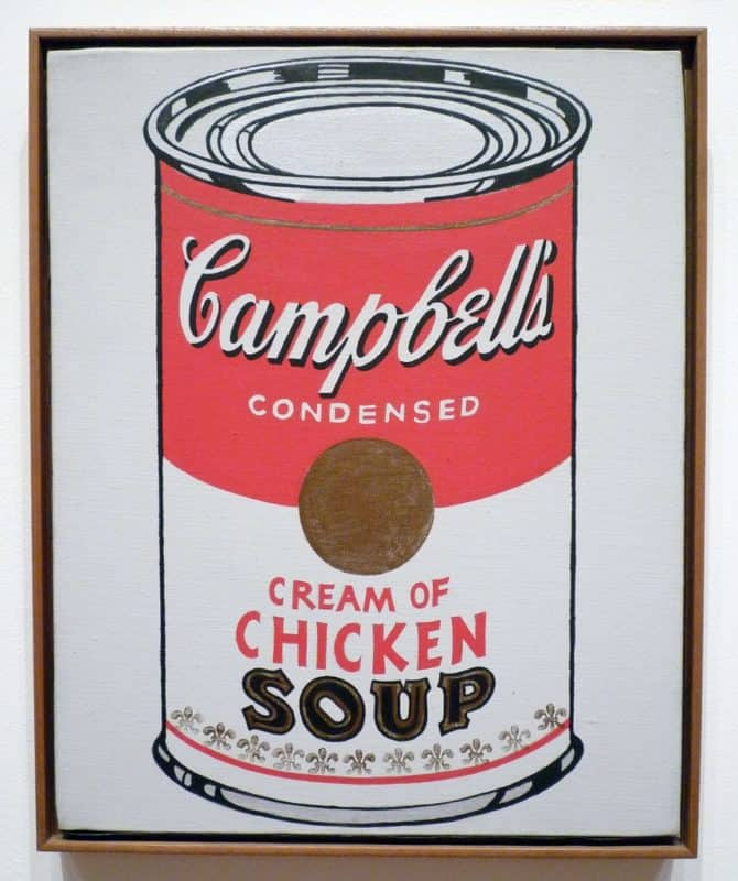 andy warhol's campbell soup mid century painting