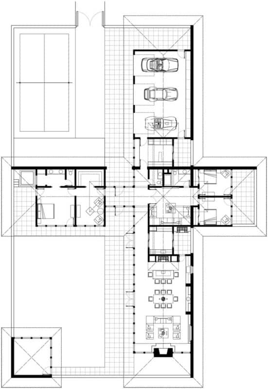 Mid Century Modern House Plans Ranch Floor Interiors | byBespoek