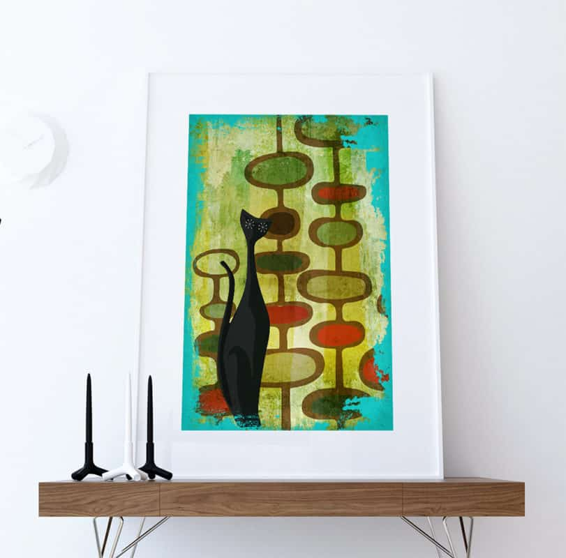mid century modern art decor wall print paintings | byBespoek
