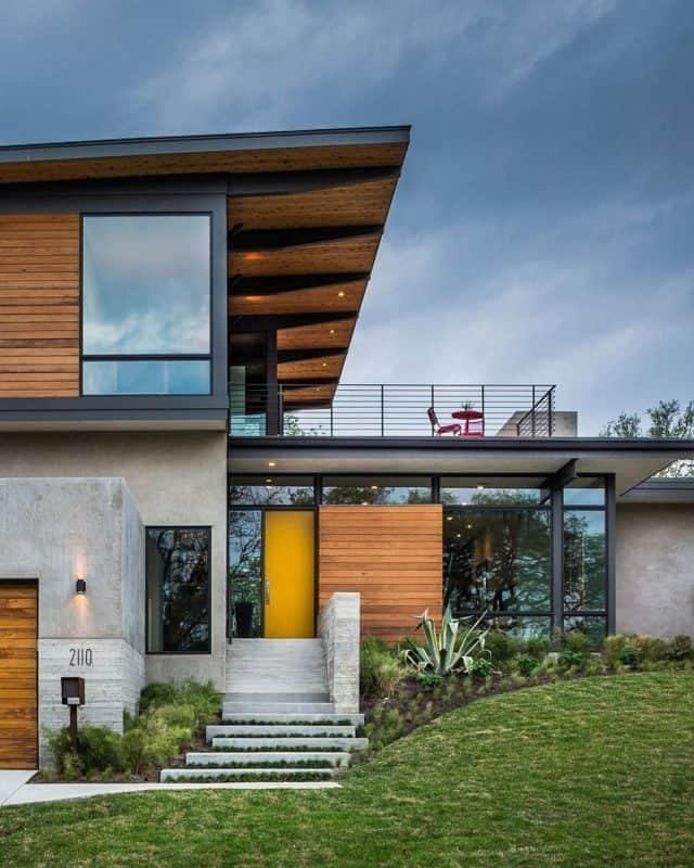 mid century modern home architecture exterior | byBespoek