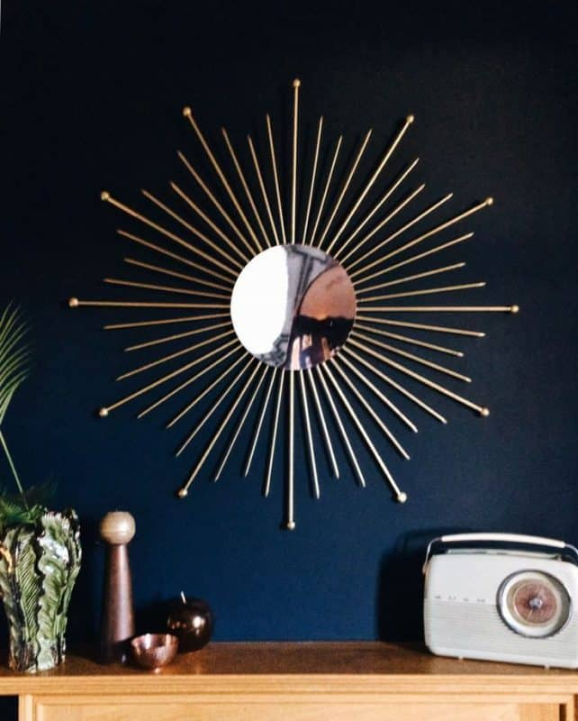 mid century wall decor mirror sunburst | byBespoek