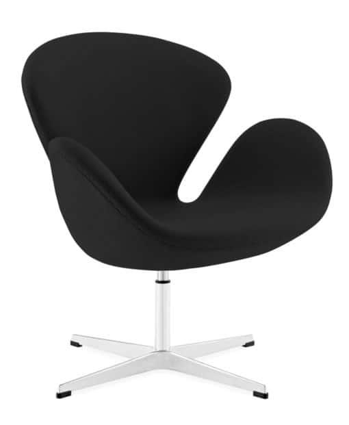 swan chair cashmere black side | byBespoek