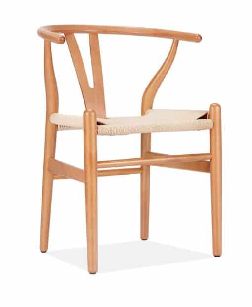 Hans Wegner CH24 wishbone chair beech side view - byBESPOEK
