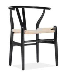 y chair black side view - byBESPOEK