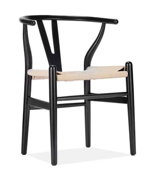 y chair black side view - byBESPOEK