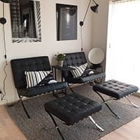 Barcelona Chairs & Stools - <b>Black</b>