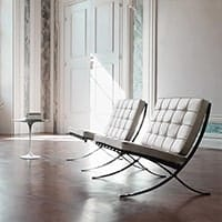 Barcelona Chairs - <b>White</b>