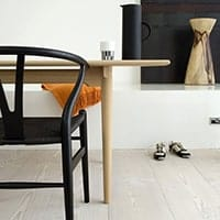 Wishbone Chair - <b>Black + Black Seat</b>