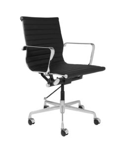 office chair short black side view - byBESPOEK