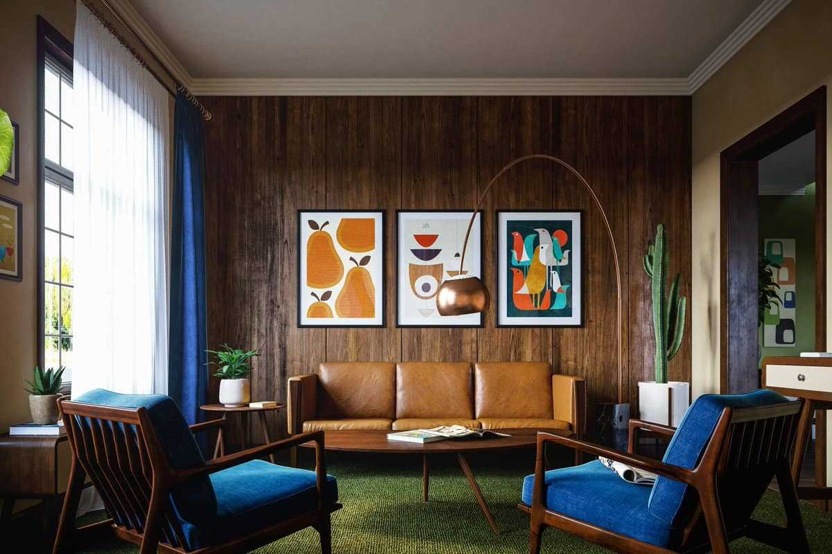 mid century modern interior design and decor ideas