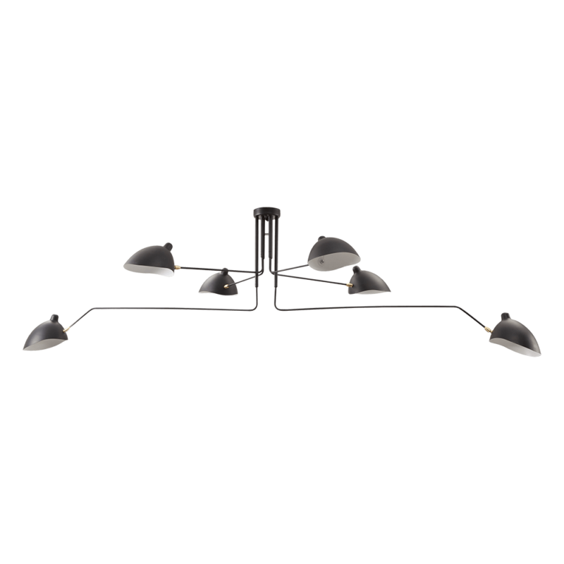 mouille 6 arms ceiling lamp