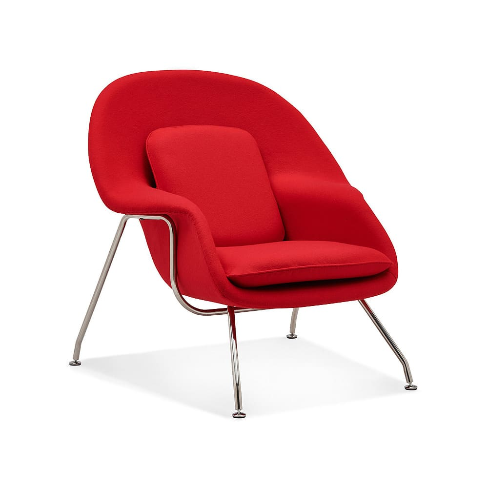 A perfect red womb chair for you