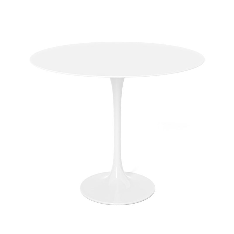 Tulip side table in white lacquer